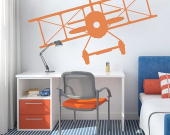 Merveilleux Vintage Plane Wall Decal   Modern Nursery Decal, Kid Room Wall Decal, Plane  Decal