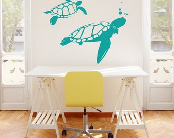 Swimming Turtles Wall Decal   Turtles Decal, Turtles Wall Sticker, Turtle  Decor, Underwater Part 67