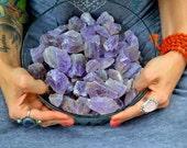 AMETHYST Specimens - 4 per lot - high quality CALMING Meditation stone - meditation - reiki