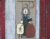 Made to Order Handcrafted Scarecrow Shutter Fall Decor Primitive Decor
