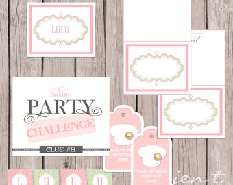 Baking Party Printable Collection
