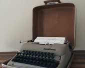 Vintage Smith-Corona Typewriter + 1950's Typewriter + Fresh Ink