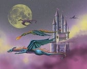 Flying Home an 11x14 matted unframed print