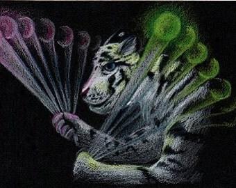 Tiger Poi - ACEO