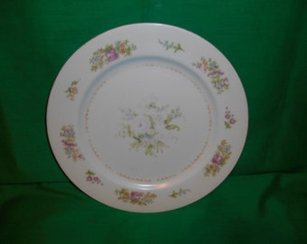 "One (1), 10"" Porcelain Dinner Plate, from Noritake (Occupied Japan) in the Empire Pattern."
