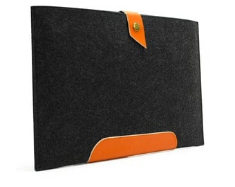 Genuine Leather  Felt iPad Mini Case  Sleeve Retina iPad Mini Cover iPad Mini 2 Wallet Pouch Felt Custom MadeE1147