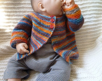 Hand Knit Baby Sweater,Baby Boy Cardigan,Baby Girl Cardigan,Free Shipping