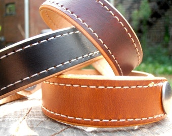 Two Tone Cuff, Leather Cuff, Custom Cuff, Leather Bracelet
