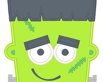 Frankenstein Applique Embroidery Design - Instant Download