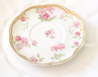 Antique Saucer, Limoges, Haviland, France, Fine Porcelain Saucer, Tea Party, Replacement China, Little Princess Party - c. 1893 - 1930