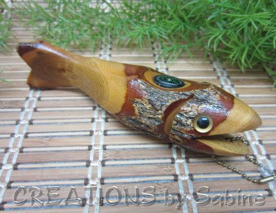 Wooden sassafras fish finder tool gag joke gift idea for for Fishing gag gifts