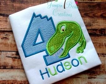 Dinosaur birthday shirt - Dino shirt - boys birthday shirt