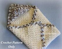 Hooded Baby Blanket Crochet Pattern, Easy to Make, Bernat Baby Blanket Yarn, Instant PDF Download