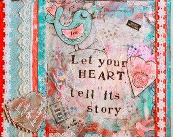 "9x12 print - ""Let your Heart"" artwork"