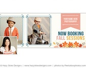 Fall Facebook Timeline Cover for Photographers, Facebook Timeline Template, Photography Marketing - FB165