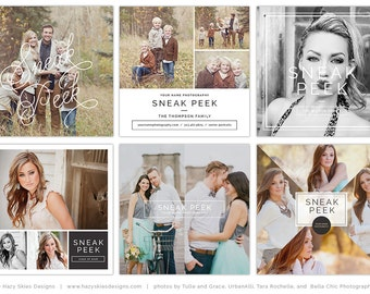 Sneak Peek Social Media Boards, Blog Template, Blog Board, Photography Marketing Template, Social Media Marketing, Instagram - SPB2026