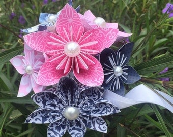 Love Bird- Origami Paper Flower Bouquet / Paper Bridal Bouquet, Origami Bouquet, Wedding Bouquet, Bridal Bouquet, paper bouquet, bouquet