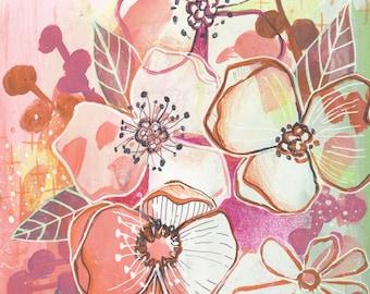 Day 10 - 'Flower Power' - Makewells365 Art Print