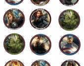The Avengers Cupcake Toppers Set (Digital)