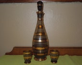 Fabulous Vintage Decanter Shot Glasses Made in Czechoslovakia