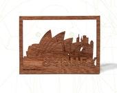 postcard wood - Sydney 3 cards