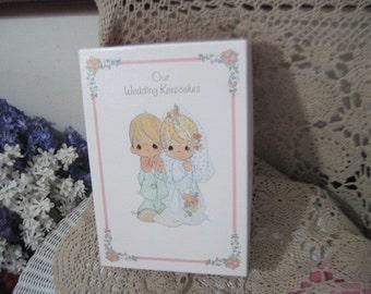 Wedding Book, Wedding, Our Wedding Keepsake Box Precious Moments 1995,Wedding Memorys, Wedding Scrap Booking,  Precious Moments