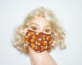 Flu mask, Veterinary, Animal Lover, Fox, Foxes, Face warmer, Style and Comfort, by Mouthshutters