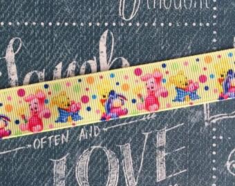 "7/8"" Grosgrain Winnie the pooh baby ribbon"