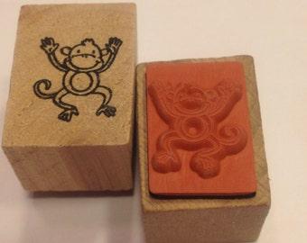 tiny monkey rubber stamps, 16 mm (SB3)