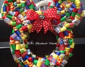 School Minnie/ Mickey Mouse Ribbon Wreath