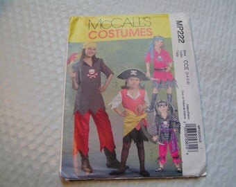 McCalls Pattern MP222 Child Pirate Costume