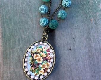 Bouquet of Thanks Necklace/Boho/Cottage Chic/Victorian/Edwardian/Garden