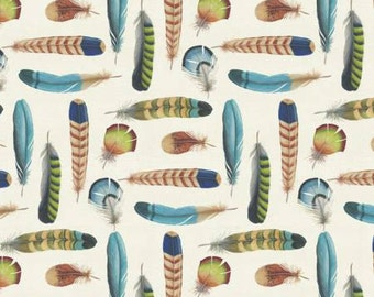 David Textiles fabric Colorful FEATHERS