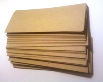 FREE SHIPPING - Chipboard bookmark blanks - 2.75 in. x 8.5 in. x .022 inches thick