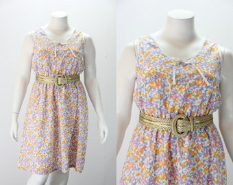 XL - XXL Summer Vintage Dress - Floral