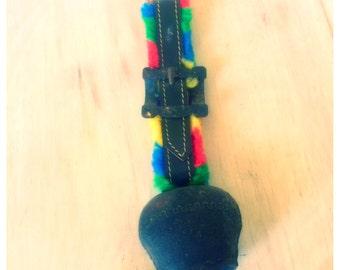 vintage bell / vintage door bell / old cow bell / rainbow bell / handmade bell