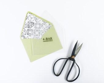Envelope Liner Template Set - Set of 8 - Envelope Liner Kit - DIY - Envelope Liner Templates - DIY Wedding Stationery
