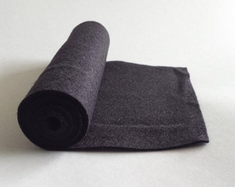 5x36 Black Wool Blend Felt Roll