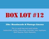 Vintage Linens Box Lot 2 LBS
