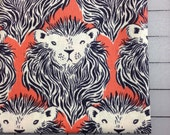 HALF YARD cut of Cotton + Steel - Sarah Watts - August - Monarch in Coral and Navy