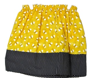 Girl's skirt - Yellow Skirt - Girls Black Skirt - Modest simple skirt - girls dress - girls clothes - girls boutique - kids fashion - Size 5