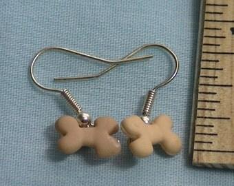 tan bone earrings