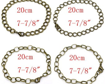 12sets Mix style antique bronze finish bracelet making with lobster clasps-10084