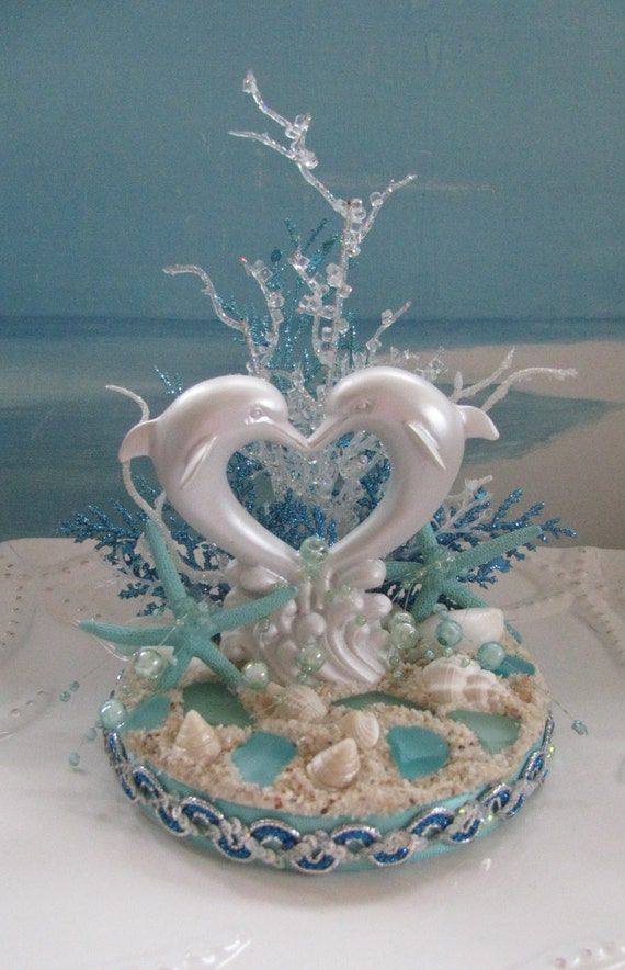 Dolphin Beach Wedding Cake Topperseashell Wedding Cake
