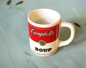 Vintage Cambell's Soup Soupe French English Mug Rare