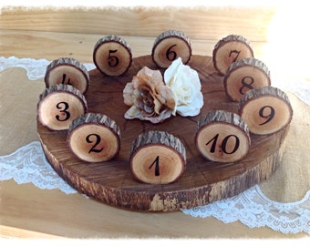 Log slice table numbers (7cm diameter)
