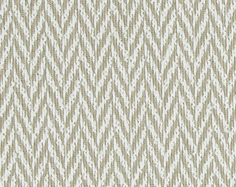 Taupe Upholstery Fabric for Furniture - Modern Woven Ivory Chevron Pillow Cover Material - Neutral Home Decor - Zig Zag Headboard Fabrics