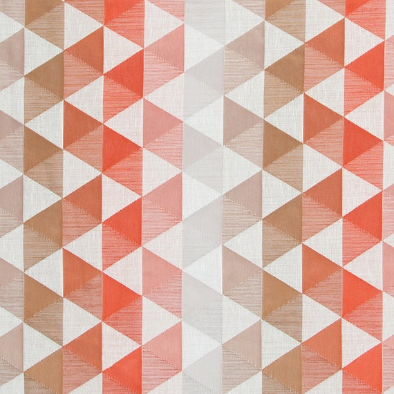 Modern Coral Geometric Upholstery Fabric For Furniture