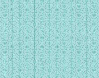 """Riley Blake Designs """"Apple of My Eye"""" by The Quilted Fish - Stripe Blue - 1/2 yard"""