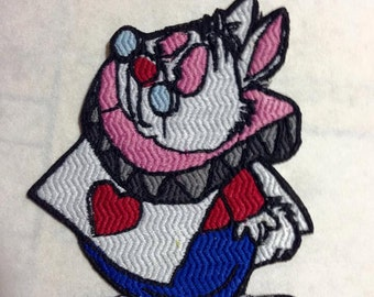 Iron On Patch Inspired Fan Art White Rabbit from Alice in Wonderland